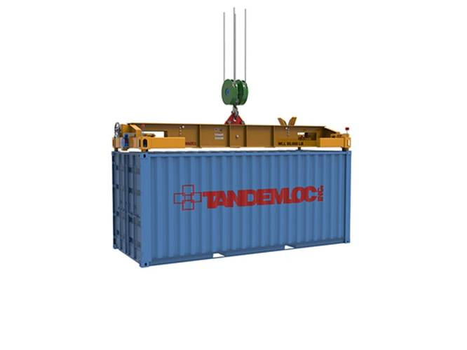 Load leveling container spreader. Photo: Tandemloc