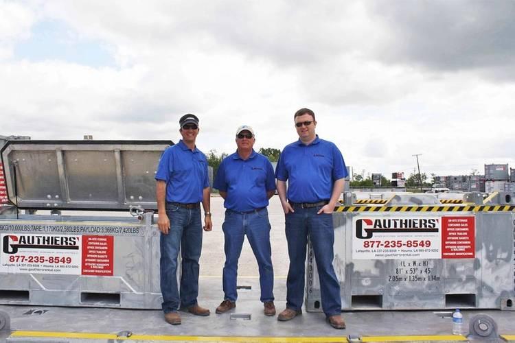(L-R) Bobby Gauthier, Robert Gauthier, Garett Gauthier