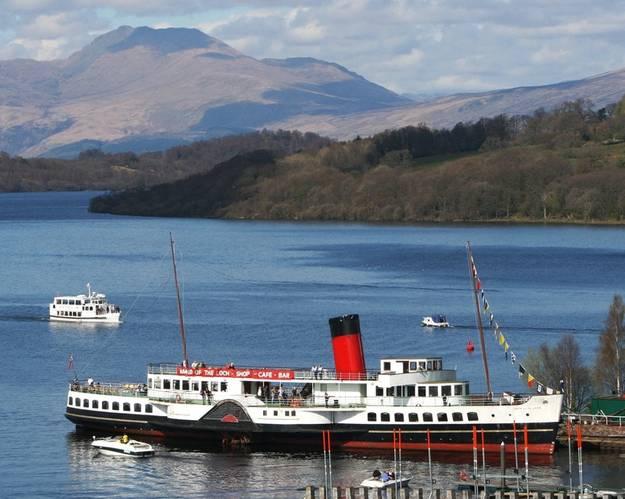 Maid of the Loch at Balloch Pier [Photo: Loch Lomond Steamship Company]