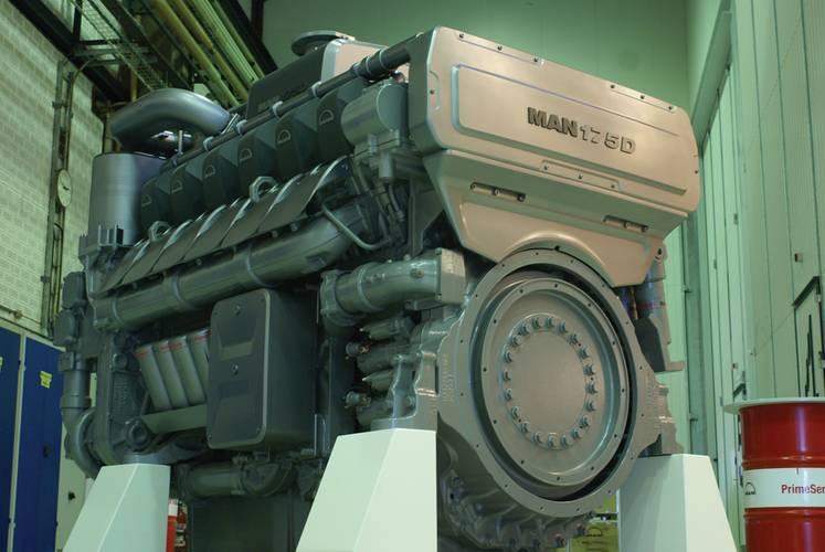 MAN Diesel & Turbo showcased its new MAN 175D engine at the newly updated engine test center in Frederikshavn.       (Photo: MAN Diesel & Turbo)