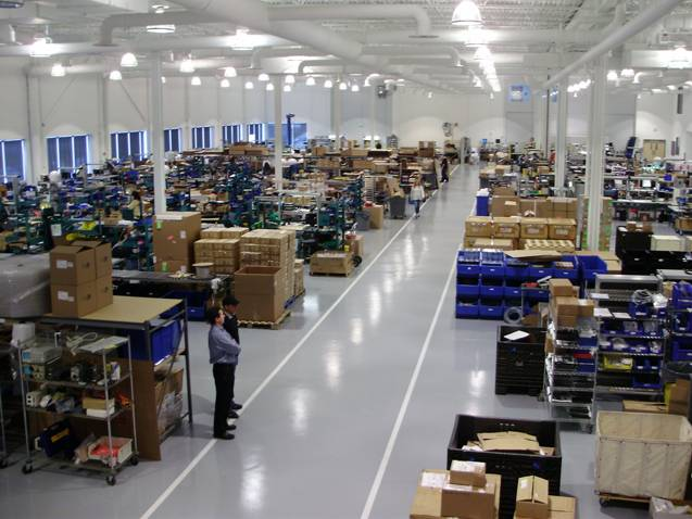 "Manufacturing facility: ""We feel that it's very important for us to control the entire ecosystem: we build the product, we write the software, we run the network, we have the infrastructure, we do the rate plans and we do the installations … we control the customer experience, which we feel is unique to our offering."" Photo: KVH"