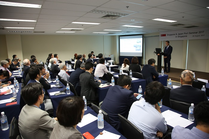 More than 100 participants attended the Singapore-Japan Port Seminar 2017 (Photo: MPA)