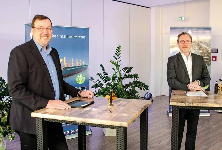 Mr Dirk Lehmann and Mr Henning Kuhlmann, Managing Directors of Becker Marine Systems. © Becker Marine Systems