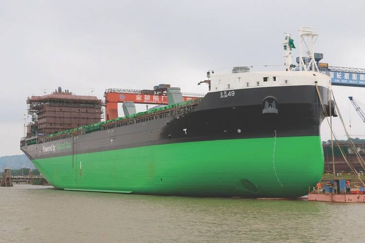M/S Viikki is the world's first LNG powered handysize bulker (Photo: ESL Shipping)