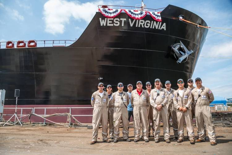 MT West Virginia, is fourth new, Jones Act product tanker for the U.S. coastwise trade Photo Crowley