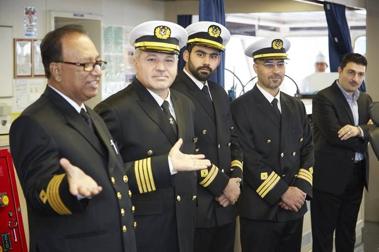M.V. Al Muraykh vessel Captain and his crew addressing guests