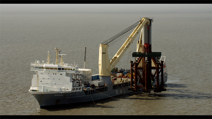 MV Svenja during the subsea installation of Monopod. (Photo: SAL)