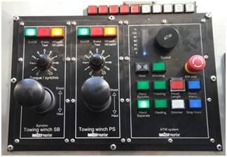 Naust Marine's ATW (Automated Trawl Winch) bridge control console (Photo: Naust Marine)
