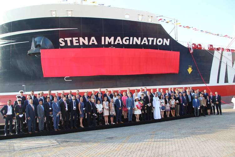 Newly named Stena Imagination together with all the naming ceremony guests. (Photo: Silverbullet)