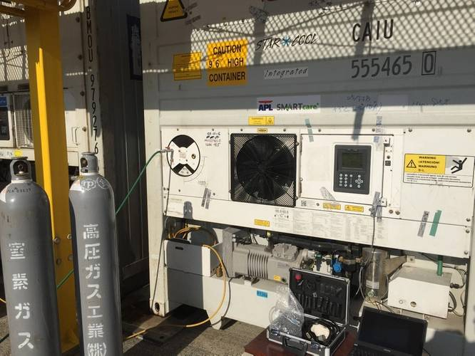 Nitrogen gas is introduced at the start to control oxygen and carbon dioxide levels within the SMARTcare+ reefer containers with precision. Photo APL