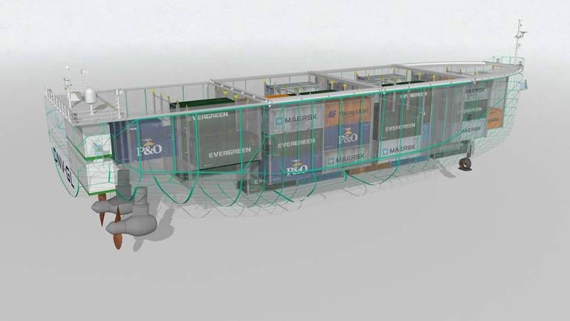 Norway's unmanned 100 TEU coastal marine transportation system ReVolt is to be powered by a 3,000kWh battery to provide a range of 100 nautical miles. With no crew onboard DNV GL has estimated a total saving of up to $34 million over its estimated 30 years time in service.