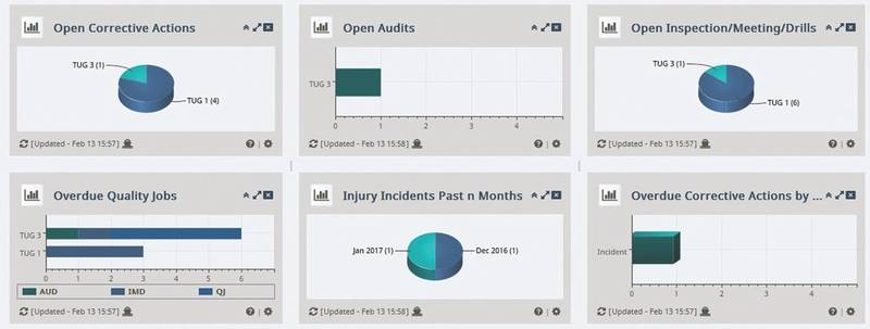 NS Core Dashboards give users a detailed view of different aspects of their HSQE program. (Image: ABS)