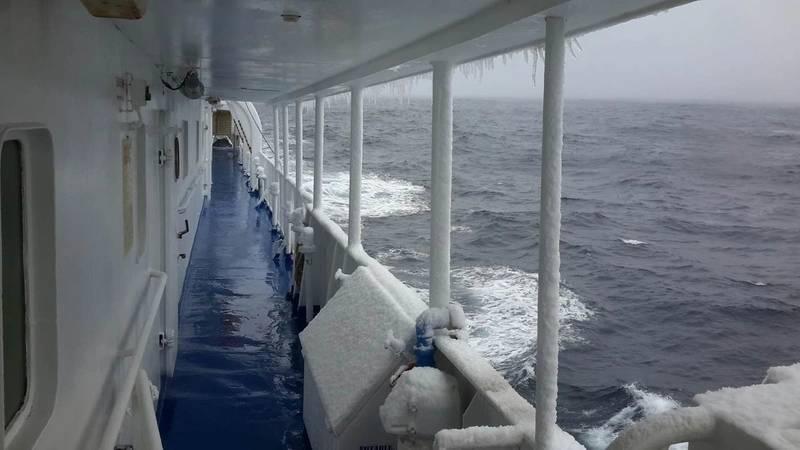 Ocean Nova on deck Photo Inmarsat