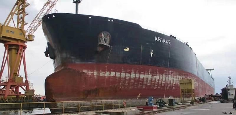 Oil Tanker, ARIAKE ready for Conversion. (Photo courtesy Cummins/Haig-Brown)