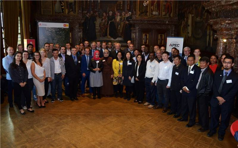 Opening ceremony in the city hall of Antwerp