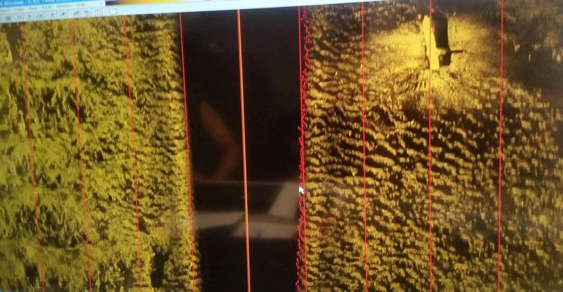 Photo of side-scanning sonar software displaying the El Faro (Photo: NTSB)