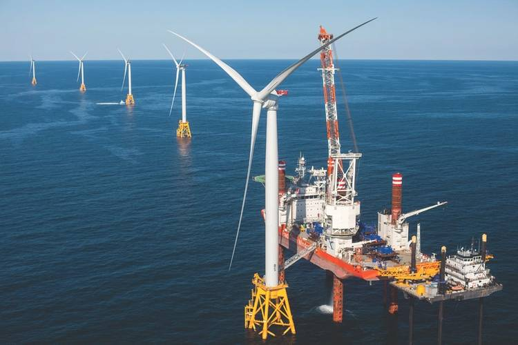 Pioneers: Block Island, RI, America's first wind park. (Photo: AWEA/Deepwater Wind)