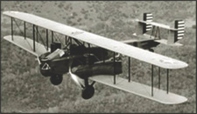 Predecessor of the modern Drones? Pilotless plane controlled by Sperry gyroscopes, a pilotless Curtiss B-2 flies over Sacramento, Calif., in May 1930.  (Credit:  National Archives)