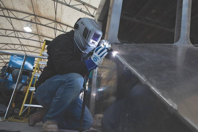 Quality and meeting customer needs are the driving forces for Metal Shark. Even on jobs with demanding turnaround times, the company won't sacrifice quality or customer satisfaction for speed. Dynasty 400 TIG welders from Miller Electric Mfg. Co. allow the company to weld thicker materials without preheating — saving time and improving productivity.
