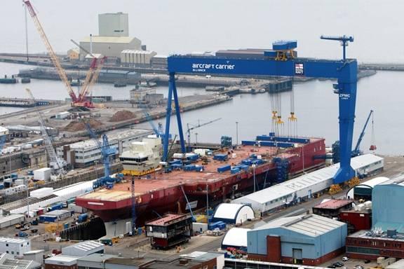 Queen Elizabeth Class Aircraft Carrier under construction. (Photo: U.K. Royal Navy)