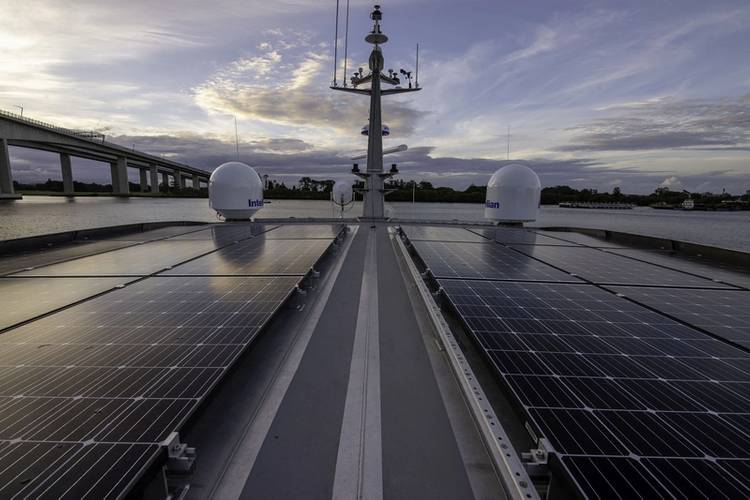 Reef Resilience's energy efficiency is aided by 6kW of roof-mounted solar panels. Photo courtesy Incat Crowther