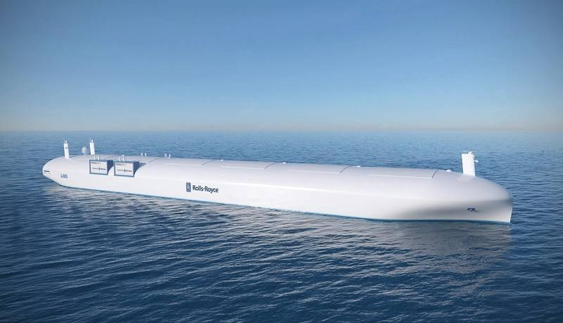 Remote controlled ship concept (Image: Rolls-Royce)