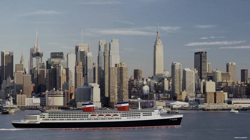 Rendering of the restored SS United States by Crystal Cruises (Image: Crystal Cruises)