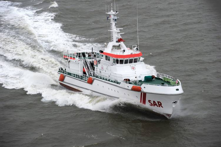 Rescue cruiser Harro Koebke from Fassmer shipyard.