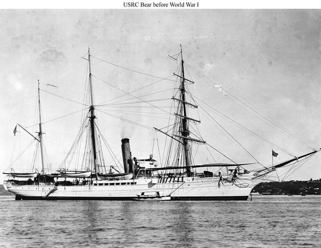 Revenue Cutter Bear before WWI. U.S. Coast Guard photo.