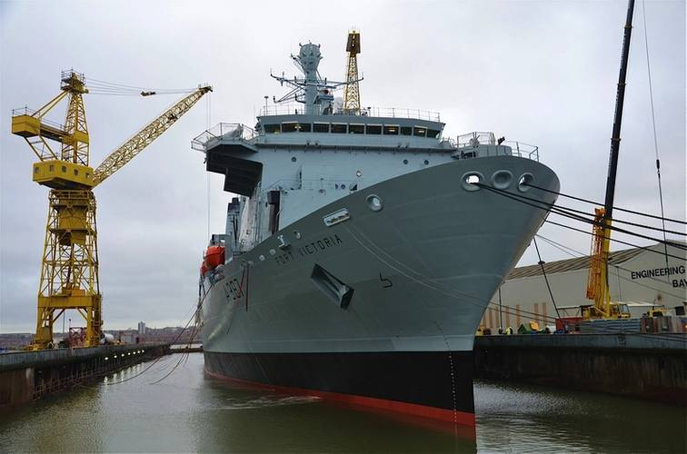 RFA Fort Victoria in Cammell Laird (Photo: Cammell Laird)
