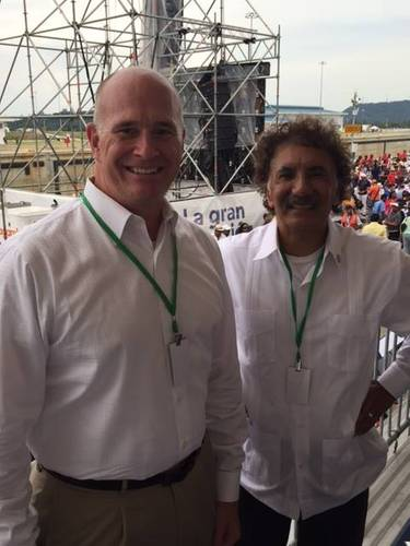 "Maritime Administrator Paul ""Chip"" Jaenichen with Federal Maritime Commission Chairman Mario Cordero at the opening of the newly expanded Panama Canal. (Photo: U.S. Dept. of Transportation)"