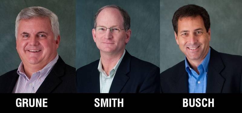 Rob Grune, Rocky Smith and Todd Busch (Photo: Crowley)
