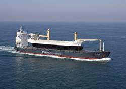 """Roelf Briese: """"Our company concentrates on multipurpose heavy lift vessels – with this we can carry all kinds of goods, from potatoes to generators up to container terminals""""."""