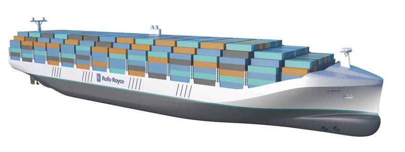 Rolls-Royce and MacGregor: Partnering to develop autonomous navigation and cargo handling technology for container ships. (Photo: Rolls-Royce)
