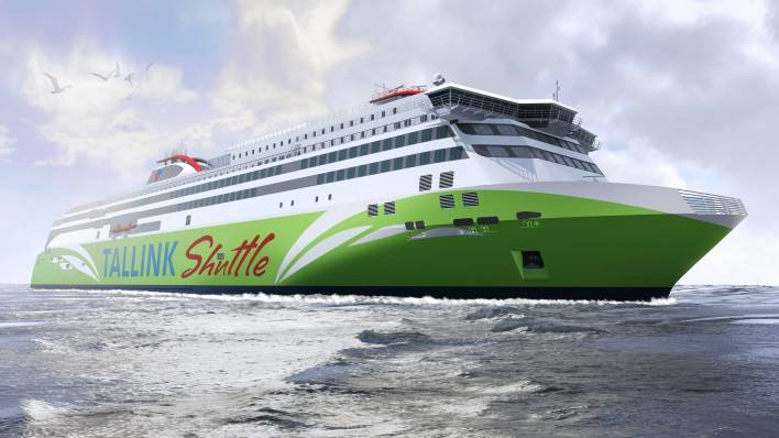 Ro-Pax ferry being built at Meyer Turku for Tallink will feature a MMC BWMS (Image: MMC Green Technology)