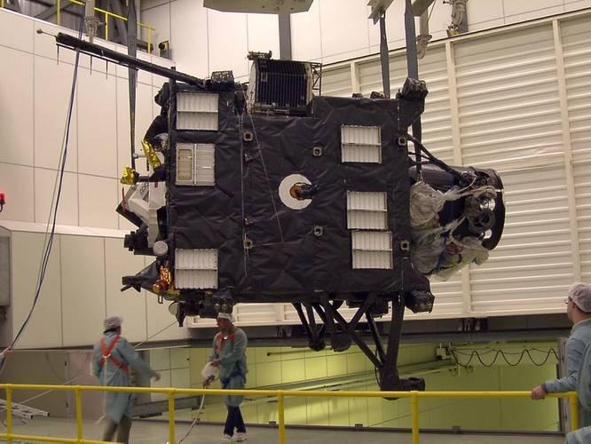 Rosetta probe flying model, where SENER louvres can be seen (Image: SENER Group)