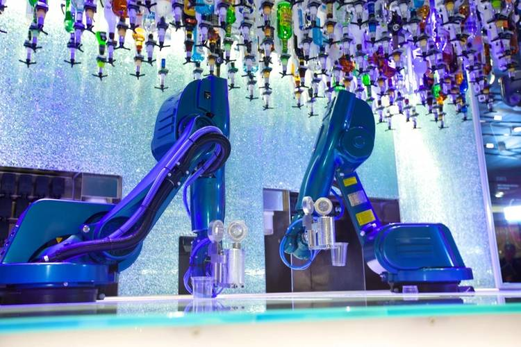Royal Caribbean's Bionic Bar uses robotic arms to mix drinks to order (Photo: Royal Caribbean)