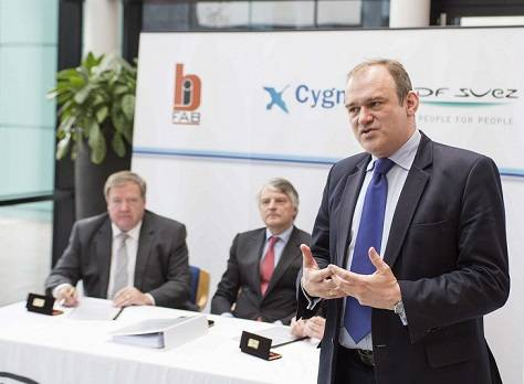 Rt Hon Edward Davey MP, Secretary of State for Energy and Climate Change at the contract signing between GDF SUEZ E&P U.K. and BiFab
