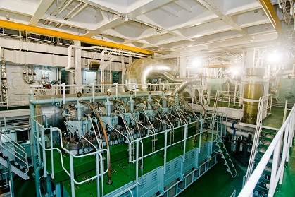 RT-flex58T, version D engine in the engine room of MV Shansi