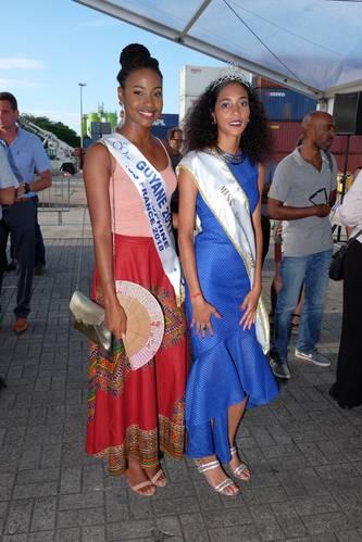 Ruth Briquet, Miss Guyane 2018, and Sarah Ringuet, Miss Kourou 2018 (Photo: Damen)