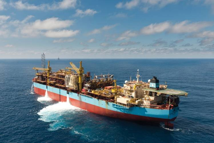 Safe stroll: crew aboard the Maersk Peregrino FPSO off Brazil (and above) Photo: Oeyvind Hagen Statoil
