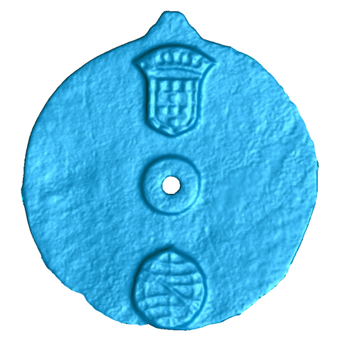 Scan of the astrolabe artifact (Credit: University of Warwick)
