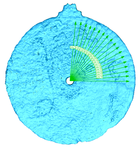 Scan of the astrolabe artifact, revealing the etches (Credit: University of Warwick)
