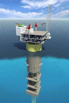 Schematic of Statoil's Aasta Hansteen Spar Platform (Photo: Lankhorst Ropes)
