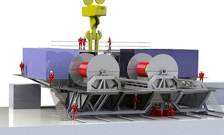 Schematic of the Subsea 7 deepwater lowering system developed by Caley Ocean Systems.