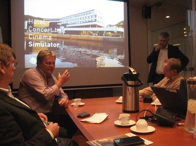 School founders  Olympic Shipping MD Stig Remoy &  Bourbon Offshore MD Bjorn Remoy (background).