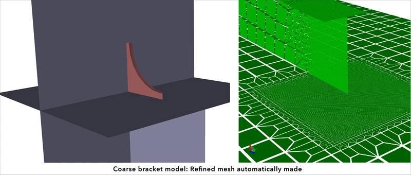 Sesam GeniE - Coarse bracket model (Photo: DNV GL)