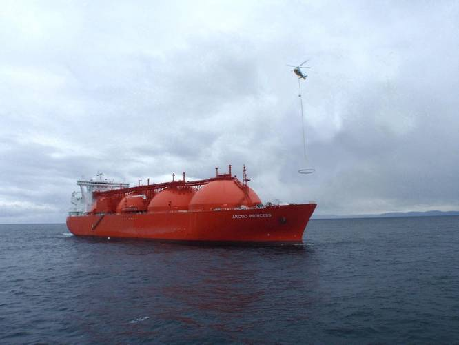 ShipArrestor trial with drifting LNG tanker