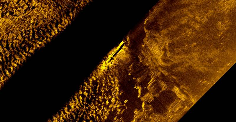 Side scan sonar helped to find the El Faro (Courtesy of U.S. Navy)