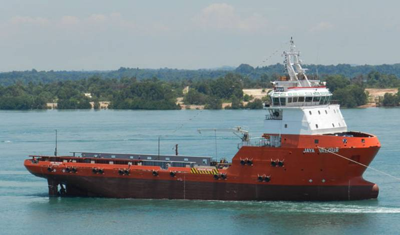 Singapore's Jaya delivers new deepwater PSV.